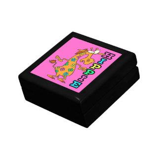 cute hippie flowers giraffe cartoon character gift box