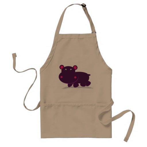 Cute Hippo Apron