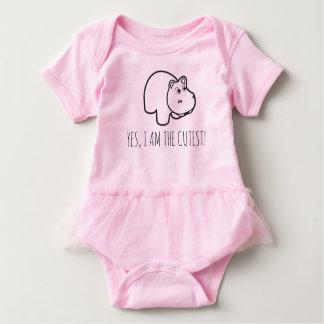 cute hippo baby bodysuit