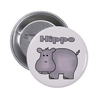 Cute Hippo Buttons