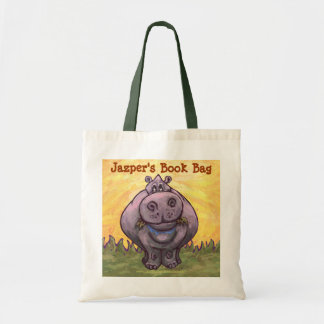 Cute Hippo Book Bag