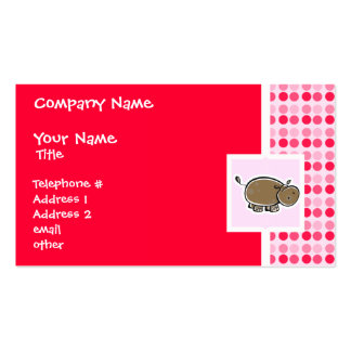 Cute Hippo Business Card Templates