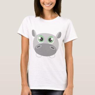 Cute Hippo Cartoon T-Shirt