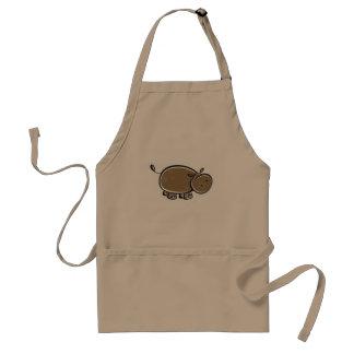 Cute Hippo; Colorful Standard Apron