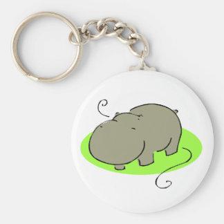 Cute Hippo Keychain