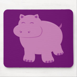 Cute Hippo Mouse Pads