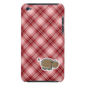 Cute Hippo Red Plaid iPod Touch Covers