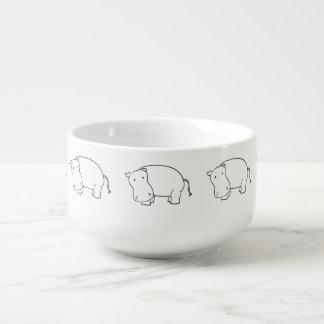 cute hippo soup mug