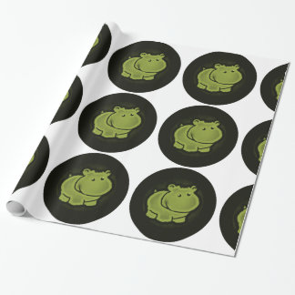 Cute hippo wrapping paper