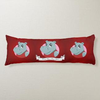 Cute hippopotamus cartoon body cushion