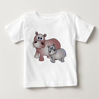 Cute Hippos Mom and Baby Infant T-Shirt