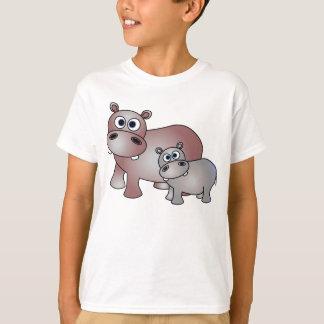 Cute Hippos Mom and Baby Tshirts