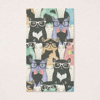 Cute Hipster Cats Pattern