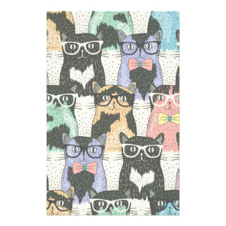 Cute Hipster Cats Pattern 14 Cm X 21.5 Cm Flyer