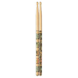 Cute Hipster Cats Pattern Drumsticks