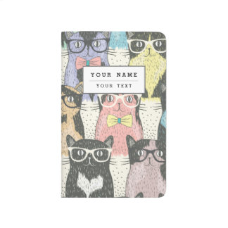 Cute Hipster Cats Pattern Journal