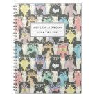Cute Hipster Cats Pattern Notebook