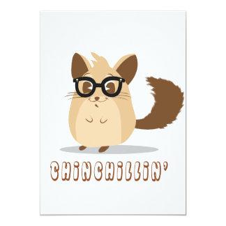 Cute Hipster Chinchilla Card