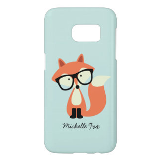 Cute Hipster Red Fox