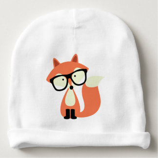 Cute Hipster Red Fox Baby Beanie