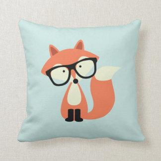 Cute Hipster Red Fox Cushion