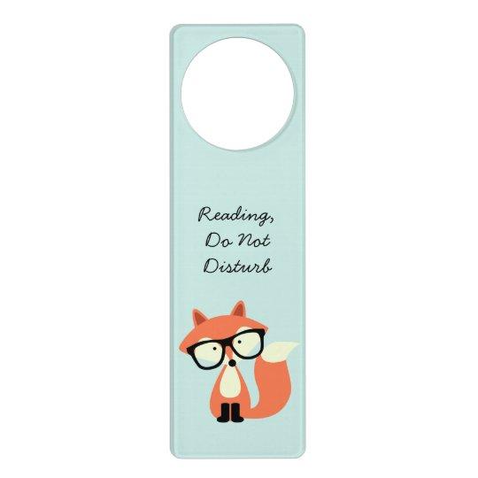 Cute Hipster Red Fox Door Hanger