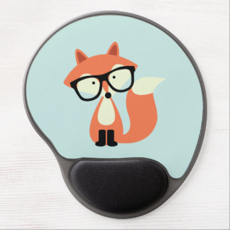 Cute Hipster Red Fox Gel Mouse Mat
