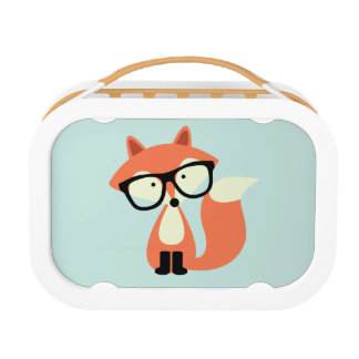 Cute Hipster Red Fox Lunch Boxes