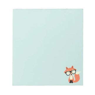 Cute Hipster Red Fox Notepad