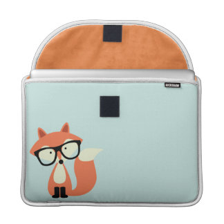 Cute Hipster Red Fox Sleeve For MacBook Pro