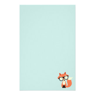 Cute Hipster Red Fox Stationery