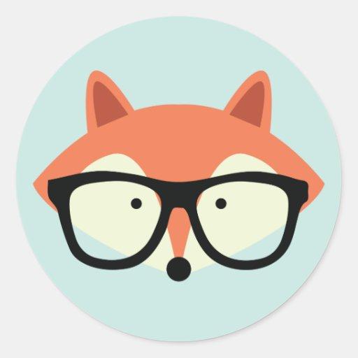 Cute Hipster Red Fox Sticker