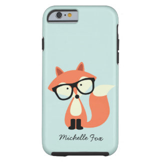Cute Hipster Red Fox Tough iPhone 6 Case