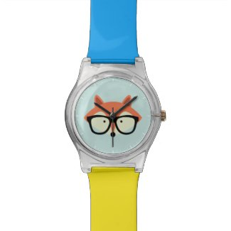 Cute Hipster Red Fox Watch