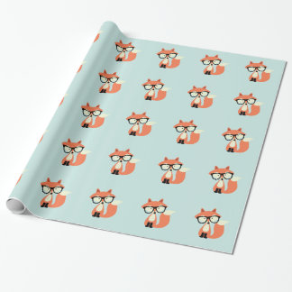 Cute Hipster Red Fox Wrapping Paper