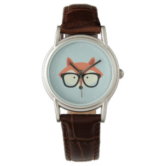 Cute Hipster Red Fox Wristwatches