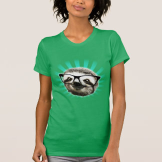 Cute! Hipster Sloth T-Shirt