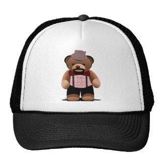 Cute Hipster Teddy Bear With Beard Cap