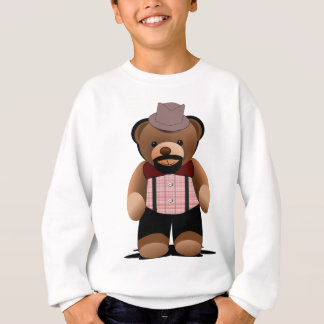 Cute Hipster Teddy Bear With Beard Sweatshirt