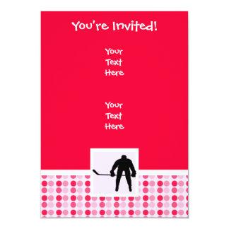 Cute Hockey 13 Cm X 18 Cm Invitation Card