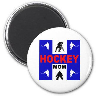 Cute hockey 6 cm round magnet
