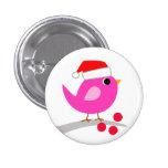 Cute Holiday Bird Pinback Button