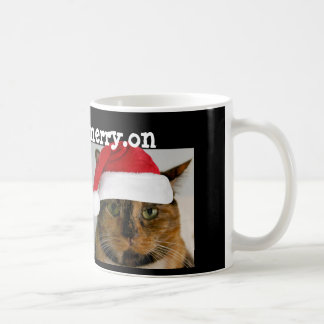 Cute Holiday Cat!  get.your.merry.on Coffee Mug