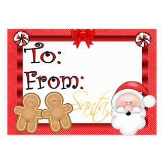 Cute Holiday Gift Tag Business Card Templates