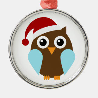 Cute Holiday Owl Christmas Ornament