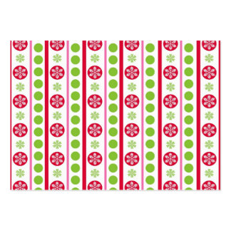 Cute Holiday Pattern Snowflakes Polka Dots Pack Of Chubby Business Cards