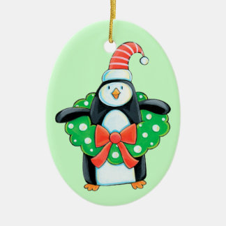 Cute Holiday Penguin Christmas Ornament