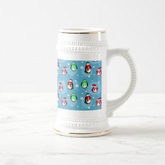 Cute Holiday Penguin Pattern Mugs