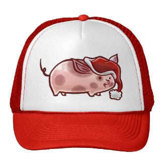Cute Holiday Pig Hat