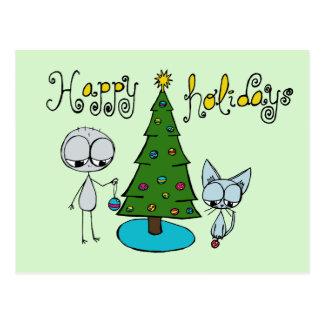 cute holiday postcard